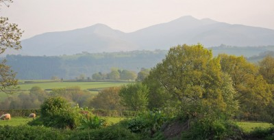 A view of the Brecon Beacons from Alexanderstone