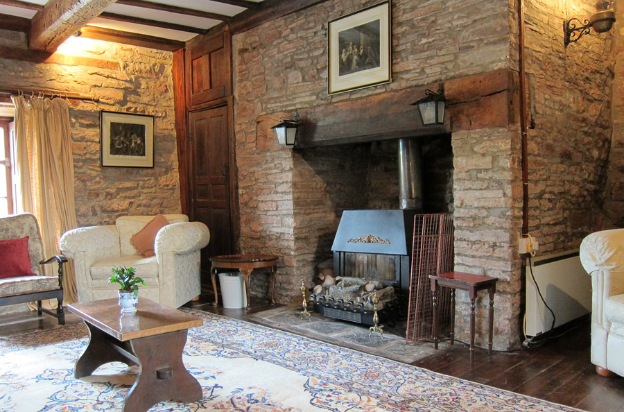 Inglenook Fireplace In Alexanderstone Manor Sitting Room