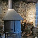 Alexanderstone dining room wood burner